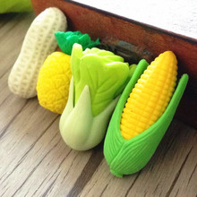 60pcs/lot Fresh Vegetable And Fruit Design Stationery Rubber For Lubrication Creative Cartoon Mini Office Gift Children