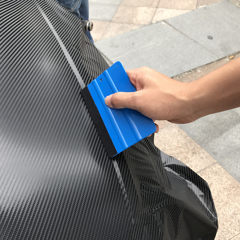 1Pcs Car Tools Scraper Wrapping Carbon Fiber Vinyl Film Blue Rubber Squeegee For Car Styling Car Stickers Auto Accessories