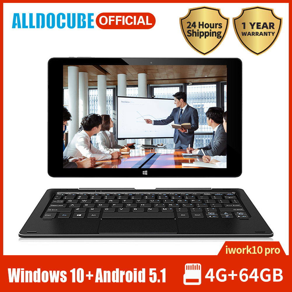 2020 Alldocube Laptop IWork10 Pro Tablet 10.1 Inch IPS Display Intel Atom Z8350 4GB RAM 64GB Windows10 Android5.1 Dual OS