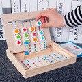 Игрушки Монтессори, развивающая головоломка для детей, учебное пособие для раннего развития, арифметическая игрушка, деревянная игра, шахм...