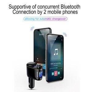 Image 3 - Baseus車のusb充電器車のfmトランスミッタiphone xiaomi aux MP3プレーヤーfm変調器のためのデュアルusb車の充電携帯電話