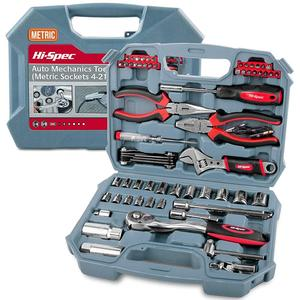 Hi-Spec 67pc Hand Tool Set Metric Car Auto Repair Automotive Mechanics Tool Kit Home Garage Socket Wrench Tools in Tool Case(China)