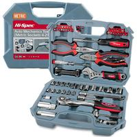 Hi Spec 67pc Hand Tool Set Metric Car Auto Repair Automotive Mechanics Tool Kit Home Garage Socket Wrench Tools in Tool Case