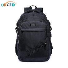 소년을위한 학교 가방 15.6 17 인치 노트북 가방 키즈 백 팩 schoolbag 소년 cartable ecole 어린이 배낭 블랙 나일론 배낭