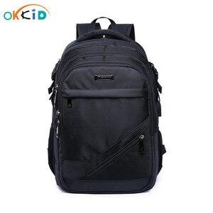 Image 1 - 소년을위한 학교 가방 15.6 17 인치 노트북 가방 키즈 백 팩 schoolbag 소년 cartable ecole 어린이 배낭 블랙 나일론 배낭