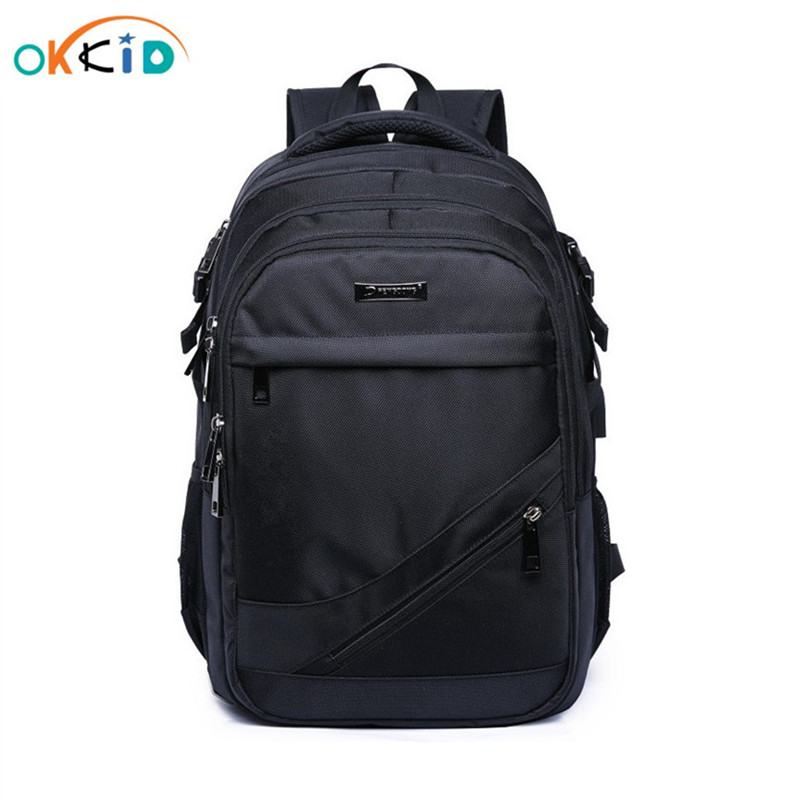 school bags for boys 15.6 17 inch laptop bag kids back pack schoolbag boy cartable ecole children backpacks black nylon backpack