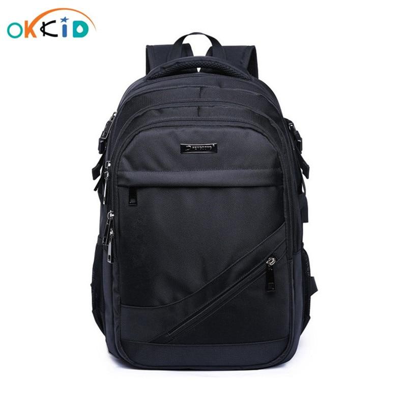 School Bags For Boys 15.6 17 Inch Laptop Bag Kids Back Pack Schoolbag Boy Cartable Ecole Children Backpacks Black Nylon Backpack