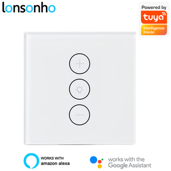 Lonsonho Smart Wifi Led Dimmer Switch EU 220V  Tuya Wireless Touch Light Dimmers Works With Alexa Google Home Smartlife
