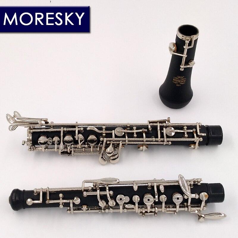 MORESKY professionnel C clé hautbois semi-automatique Style Cupronickel nickelplate MORESKY hautbois S01 - 5