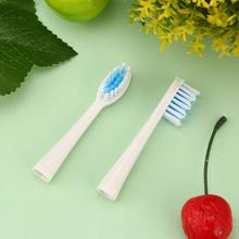 2 Pcs Portable Electric Replacement Brush Heads for Seago SG-881 Electric Toothbrush Soft Nylon Bristles