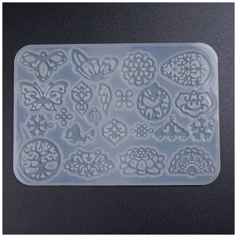 Transparent Hexagon Storage Box Silicone Mold DIY Handmade Jewelry  Tool Moulds UV Epoxy Resin Decorative Craft Wholesale