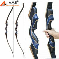 56 Recurve Bow Takedown Archery 20 50lbs Wooden Right Hand Target Adult Longbow Hunting For Outdoor Shooting