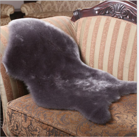 Faux Sheepskin Chair Cover Seat Pad Soft Sofa Carpet Cushion Hairy Pendulum Mat Solid Color Skin Fur Fluffy Rugs Bedroom Blanket