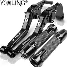 New For YAMAHA TECH MAX TMAX T MAX 560 TMAX560 2019 2020 Motorcycle CNC Accessories Brake Clutch Lever Handlebar Hand Grips Ends