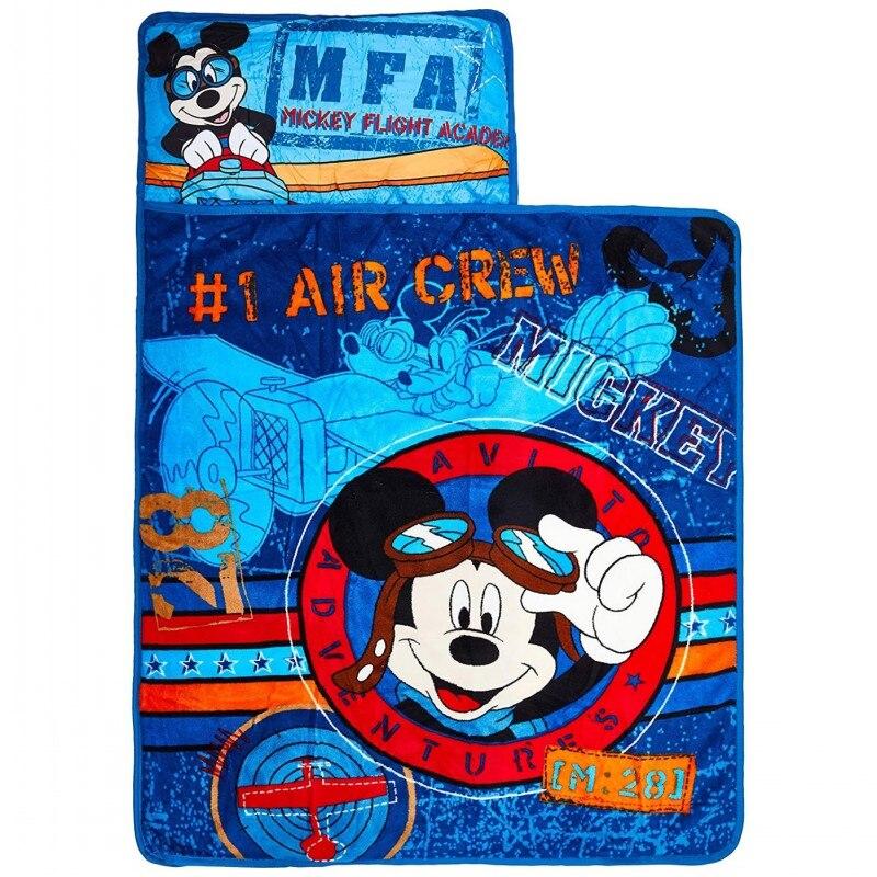Tapis de sieste enfant Disney Minnie Mickey Mouse | Moana licorne, tapis de couchage tout-en-un, couverture de voyage, cadeau pour bébés garçons et filles