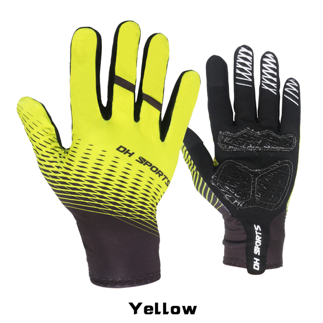 MTB Full Finger Bicycle Gloves Touch Screen Spring Autumn Gel Sport Shockproof