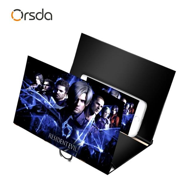 Orsda 선물 유니버설 스크린 앰프 확대 입체 나무 hd 3d 스크린 앰프 전화 홀더 마운트 발렌타인