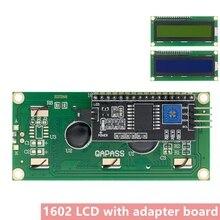 10 pces lcd1602 + i2c lcd 1602 módulo azul/amarelo tela verde iic/i2c lcd1602 iic lcd1602 adaptador placa