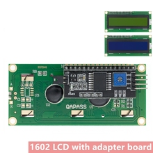 10pcs LCD1602+I2C LCD 1602 module Blue /yellow green screen IIC/I2C LCD1602 IIC LCD1602 Adapter plate