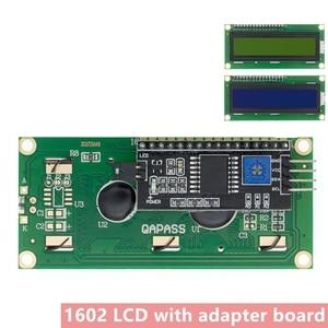 Image 1 - 10pcs LCD1602+I2C LCD 1602 module Blue /yellow green screen IIC/I2C LCD1602 IIC LCD1602 Adapter plate