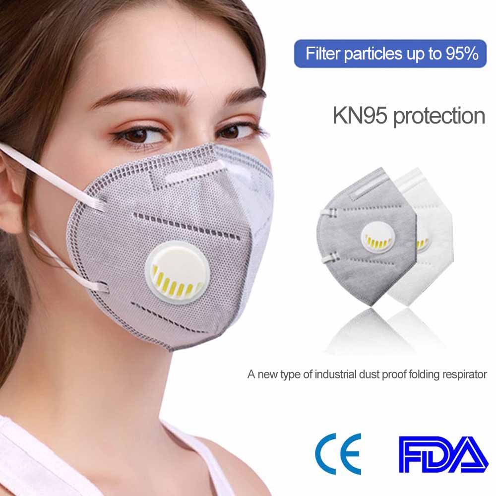 Filter Masks Reusable KN95 Mask Valved Face Mask FFP3 Mascherine Respirator Face Mask 5 Layer Protection Face Anti-dust Lot Fast