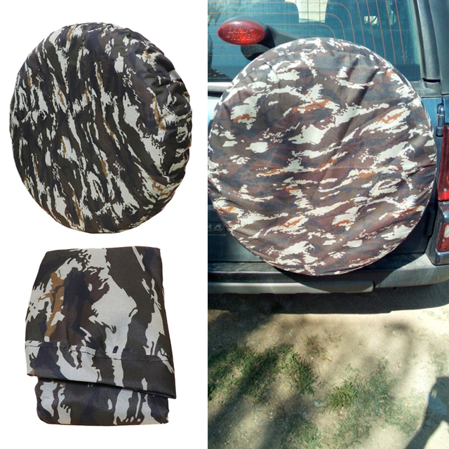 """Car Style Off road Car High Quality Camouflage Color PU Spare Tire Cover Custom 14 """"15"""" 16 """"17"""" PVC Spare Wheel Cover"""