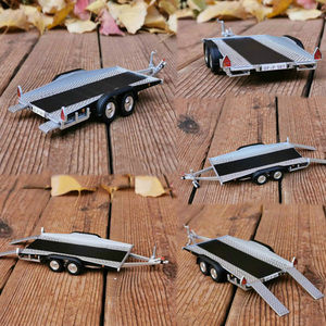 1:43 Alloy diecast Trailer Trailing plate model Used for car models Accessories Scene car frame DIY Miniature vine Scenario Show