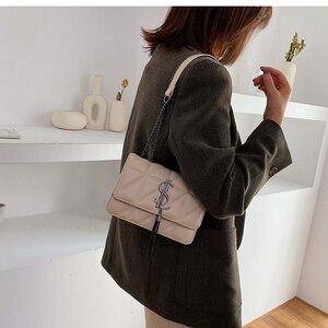 Image 5 - 2020 Luxury Famous Brand Women Bags Designer Lady Classic Plaid Shoulder Crossbody Bags Leather Women Messenger Handbags
