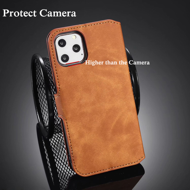 Premium Leather Flip Wallet Case for iPhone 11/11 Pro/11 Pro Max 2