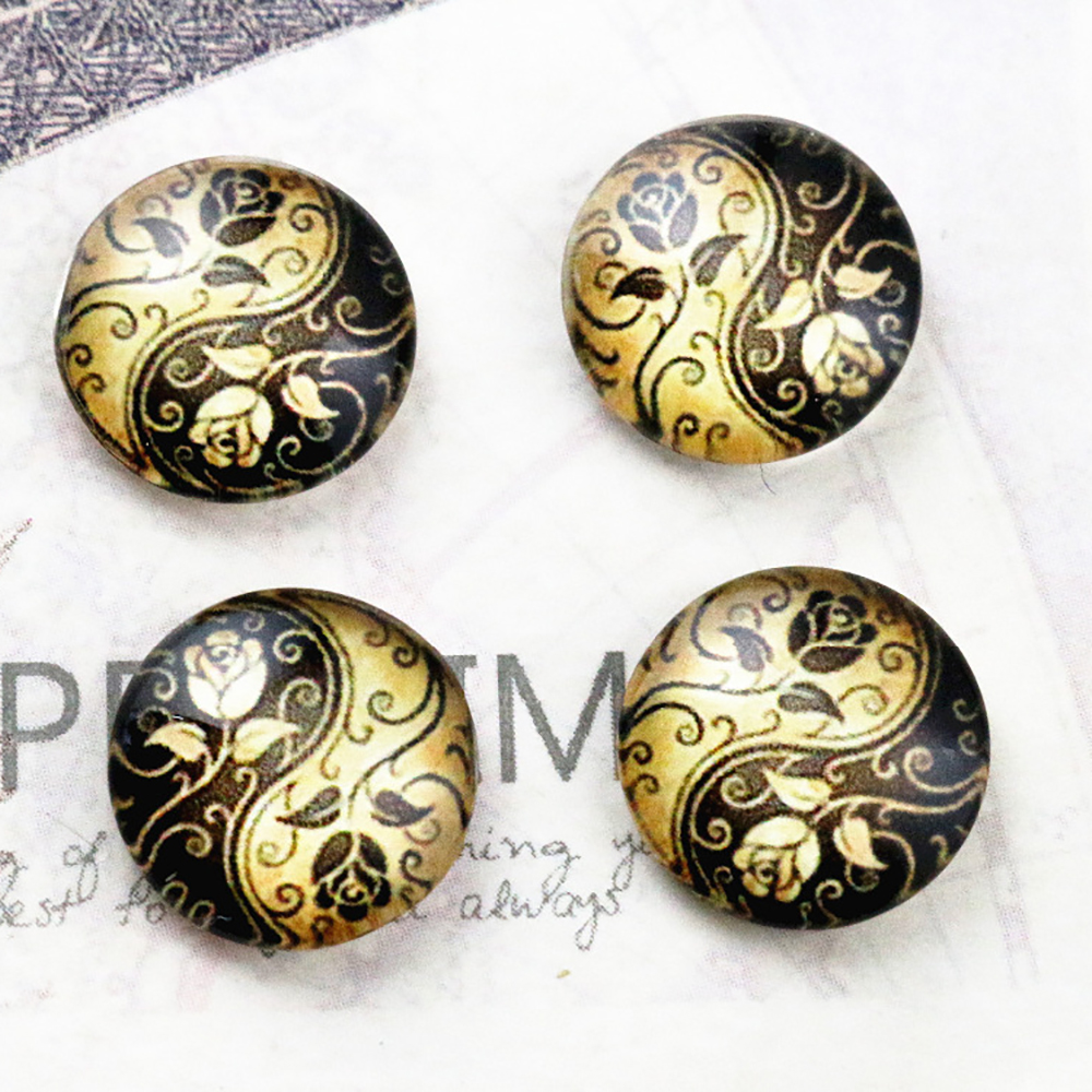 Hot Sale 20pcs 12mm Handmade Photo Glass Cabochons  E5-03