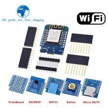 ESP8266 ESP-12 ESP-12F CH340G CH340 V2 USB WeMos D1 Mini WIFI Development Board D1 Mini NodeMCU Lua IOT Board 3.3V With Pins(China)