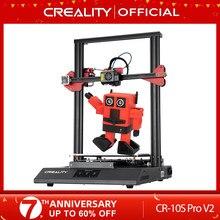 Creality impressora 3d CR-10S pro v2 com bl toque de nível automático, tela sensível ao toque, com capricórnio ptfe