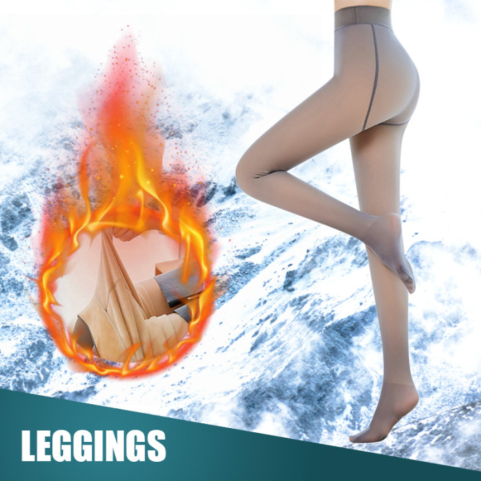 Leggings Women 2020 High Quality Legs Fake Translucent Warm Fleece Slim Stretchy For Winter Outdoor Women Ropa Mujer 19
