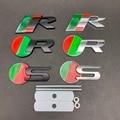1 шт. Металлическая Эмблема переднего гриля автомобиля R S logo Для Jaguar XJ XE XF S-TYPE X-TYPE F-TYPE