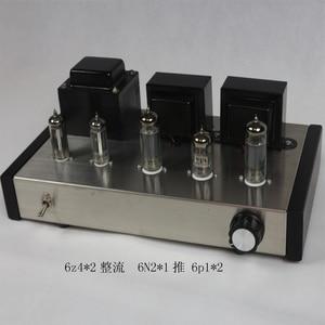 Image 3 - Nobsound casa áudio tubo amplificadores kit diy 6z4 + 6n2 6p1 aço inoxidável habitação saída de potência 2*4w ac110v/220v opcional