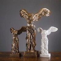 European style Victory Goddess Figure Plaster Sculpture Resin Crafts Home Decoration Decoration Model Room Study