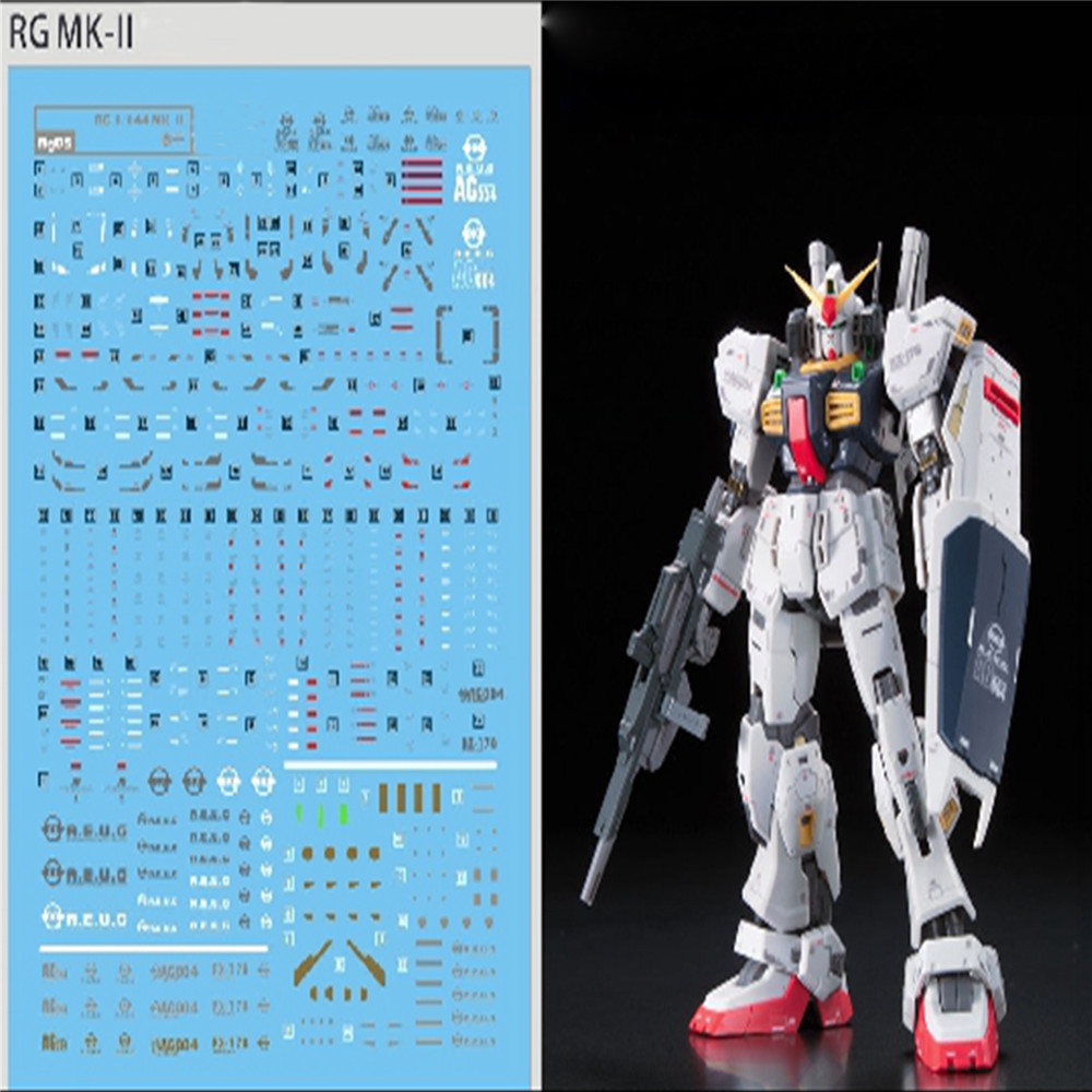 Image 2 - DIY wysokiej jakości woda kalkomanie do 1/144 Bandai RG Gundam MK II AEUG Model DIY naklejki wklej wodyZestawy modelarskie   -