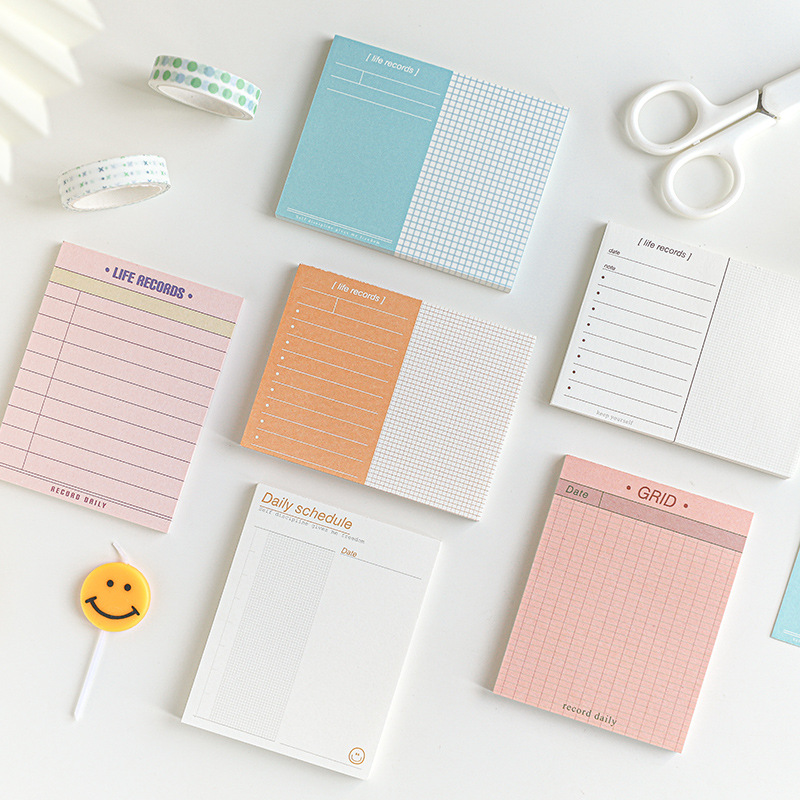 50 Sheets 6 Styles Creative To Do Memo Pads Journal Scrapbooking Stationary Supplies Daily Schedule Sticky Decoration Memo Pads
