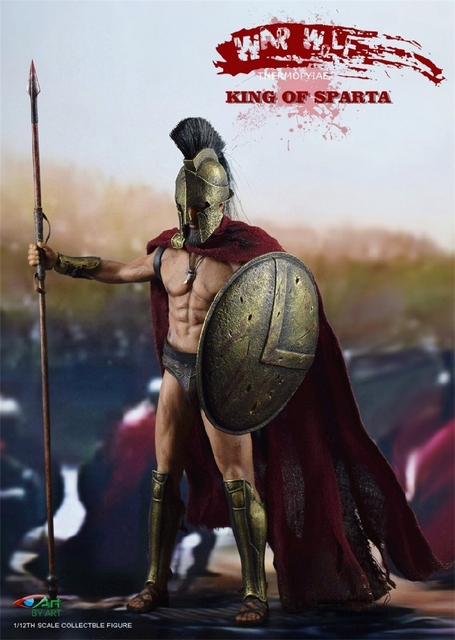 BY ART BY G01 300 Warriors King of SPARTA with 2 Heads 1/12 Action FIGURE