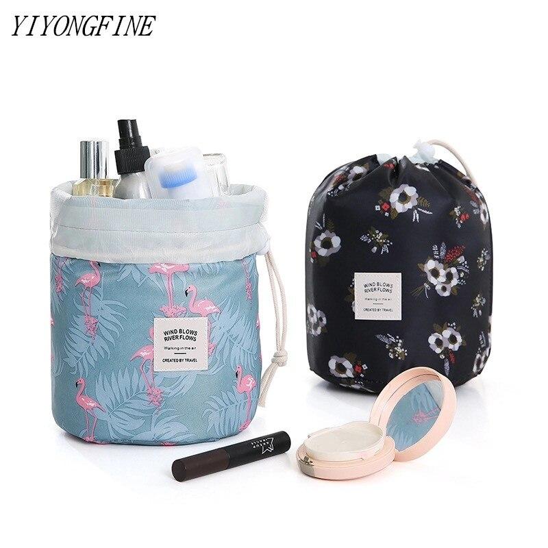 Neceser Women Lazy Drawstring Cosmetic Bag Fashion Travel Makeup Bag Organizer Make Up Case Storage Pouch Toiletry Beauty Kit
