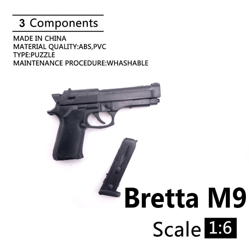 1:6 Bretta M9 4D Gun Model For 12