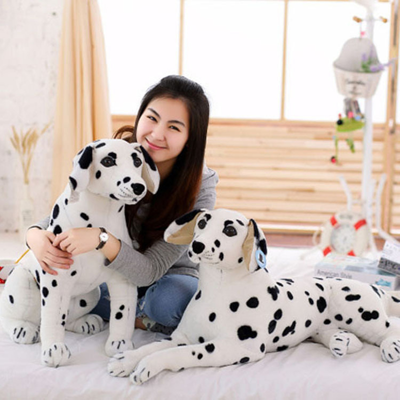 Stuffed Animals Plush Dalmatian Dog Toy Simulation Giant Dog Toy Realistic Animal Kids Toys Gift For Children Pet Shop Mascot