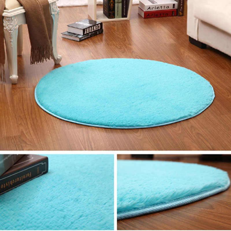 Nueva alfombra redonda caliente 40cm Silla de dormitorio antideslizante cojín estera de Yoga alfombra de la puerta del suelo para la estera de la sala de estar cubierta de juego de la habitación de los niños