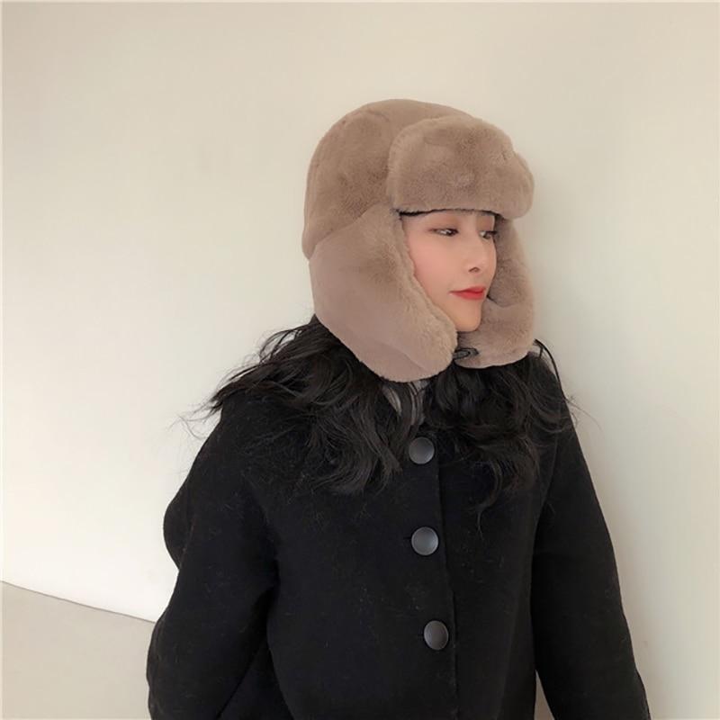 Новая хлопковая осенне зимняя шапка ushanka женские милые и
