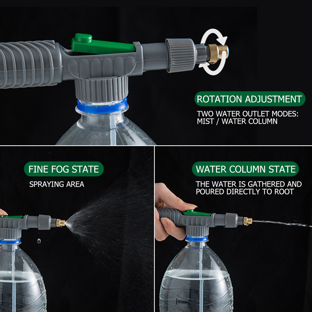 Small Watering Device Gadget Set Plastic Head Beverage Bottle Sprayer Garden Tool for Household Garden Grass Supply-0