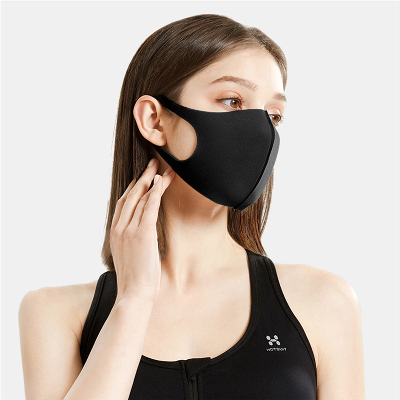 3Pcs High Elasticity Polyurethane Dustproof Mouth Face Mask Anti-bacterial Dustproof Anti-fog Pollution Masks Washable Unisex