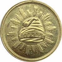 Monedas de copia de Metal, diseño de dólar dorado, 1 dólar, Estados Unidos, 1836 año