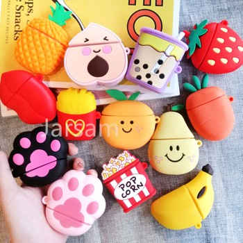 Cartoon Silicone Alien dog Earphone Case For AirPods case Cute Protection Cover Accessories
