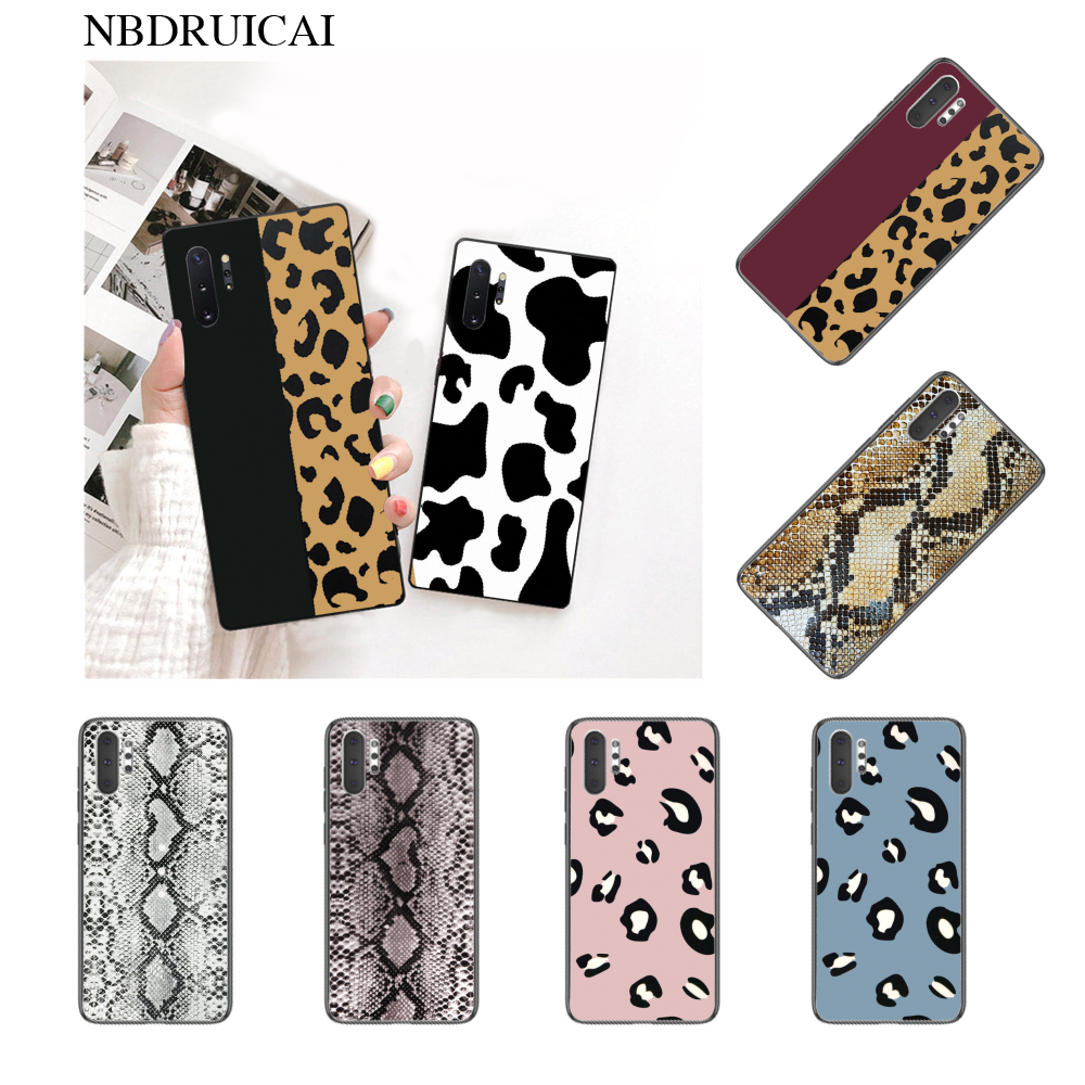NBDRUICAI Cow Print Black White Customer High Quality Phone Case for Samsung Note 3 4 5 7 8 9 10 pro M10 20 30