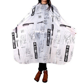 Fashion Personality Pattern Cutting Hair Waterproof Cloth Salon Barber Cape Hairdressing Barber Apron Haircut Capes W0001 1 pcs random color best new sketch hair salon cutting barber hairdressing cape for haircut hairdresser apron cutting hair capes